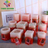 High Quality Paraffin Wax Scented Pillar Candles Square Candles for Home Decoration Festival Gift