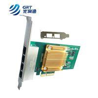 1000Base-T Intel I350 based PCIe Gigabit 4 Port RJ45 Fiber Lan Card NIC
