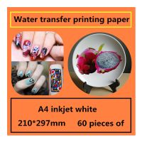 A4 inkjet white water transfer printing paper Decorative stickers design transfer