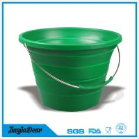 Silicon Folding Pail Collapsible Water Bucket thumbnail image