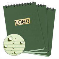 Custom Waterproof Top Spiral Notebook 4 x 6 inch, month agenda wire-O binding notebook