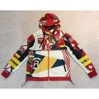 Men's multi color printing windbreaker jacket thumbnail image