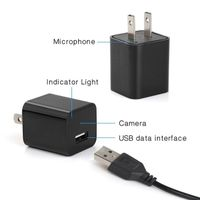 Hidden Security Camera Video Recorder AC Plug Adapter Charger IP Cam 1080P HD