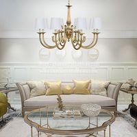 Brushed Brass Pendant Lamp Mid Century Modern Chandelier Lighting Gold Sputnik Ceiling Light Fixture