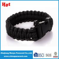 how to make a parachute cord bracelet with paracord strap