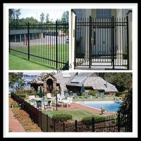 Galvanized Tubular Steel Fence Wall Design