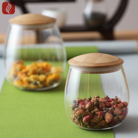 2019 Best Sale Glass Storage Jar With Stainless Steel Lid