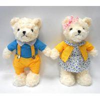 Lovely Plush Funny Teddy Bear Fur Fabric Couple Taddy Bear thumbnail image