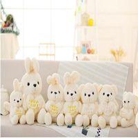 2018 New Arrival Custom Stuffed Plush White Angel Rabbit Plush Toy