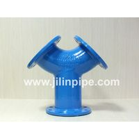 All-flanged Y Tees ductile iron pipe fittings ISO2531 BSEN545 BSEN598 thumbnail image