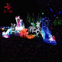 Christmas decorate mountain 3d LED motif lights for outdoor