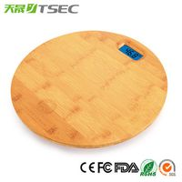 Bamboo Platform Digital Electronic Personal Body Weight Bathroom Scale