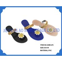 Sell lady's PVC fashion slippers