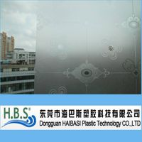 New Pattern Self Adhesive Pvc Glass Film Frosted Window Film