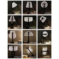 factory price LED desk lamp of home decoration promotional gift with carve logo