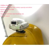 Wireless 1.78W Cree Led Coal Mining Lamp, Miner's Light with Digital Oled Screen USB Charger