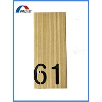 Decorative Wood Grain Outdoor or Indoor Usage Aluminum Signage Plate