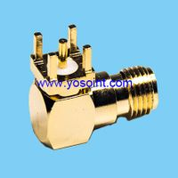 SMA connector female right angle solder.