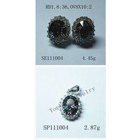 Topher Jewelry 925 silver---rainbow stone set