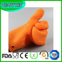 RENJIA silicone heat resistant grilling bbq glove silicone heat resistant baking gloves silicone hea thumbnail image