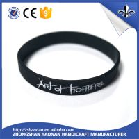 silicone wristband embossed wristband printed wristband