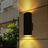 LED wall light for porch waterproof outdoor cylinder LED wall lamp Hotel Villa balcony Exterior