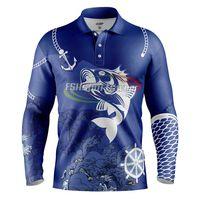 Custom design sublimated fishing jersey thumbnail image