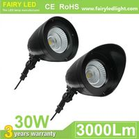 LED Bullet Flood Light 15W 30W with Integral adjustable knuckle IP65 waterproof 3 years warranty