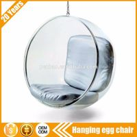 Small order accept Cheap indoor acrylic bubble hanging chair for sale