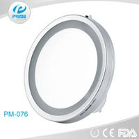 Promotion LED wall mirror with suction cup as ladies gift items