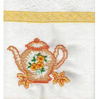Embroidered cotton kitchen towels