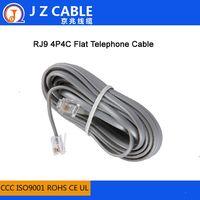 4P4C RJ11 Flat Telephone Cable,rj11 telephone cords