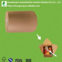 PE coated brown kraft paper for fast food box