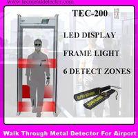 metal detectors walk through security gates TEC-200 thumbnail image