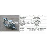 British Type Scaffolding pipe Clamp Double Scaffolding Coupler