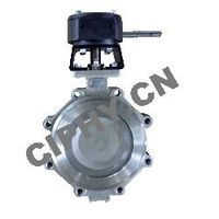 Cast Steel Soft Sealing Double Eccentric Butterfly Valve DIN3352-K1 PN10/16/25/40 thumbnail image