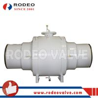 Fully-welded carbon steel ball valve