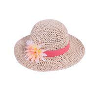 100% hand crochet kids paper straw floppy hat thumbnail image