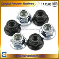 Carbon Steel Nylon Lock Insert Flange Nut