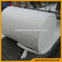 25 Thickness 128kg/m3 Density 1260 Standard Ceramic Fiber Blanket for Pizza Oven Insulation