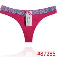 New laced cotton thong cute lady panties sexy women underwear lady g-string women stretched t-back s