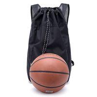China Supplier Black Drawstring Travel Bags Sports Bag Backpack Men