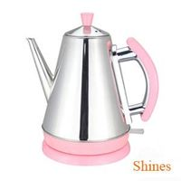 CE 1.5L hot sell home appliance quick boil 360 degree cordless pyramid kettle stainless steel remova