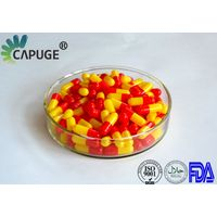 Empty Hard Gelatin Capsule Shells Bulk Size 0 1 2 red & yellow