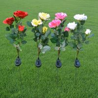 3 Branch Solar Rose Light LED solar flower light