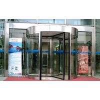 Three-wing or four-wing manual revolving door