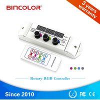 BC-350 Zhuhai Bincolor rotary knob adjustable RGB led controller with digital display thumbnail image