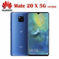 Huawei Mate 20 X 5G Cell Phone Andorid 9.0 Kirin 980 Octa Core 8G RAM 256G ROM NFC Quick Charger 7.2