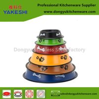 multi color pet feeder bowls travel dog bowl