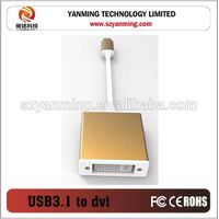 USB 3.1 Type C to dvi cable adapter